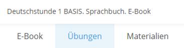 """Neuer Bereich """"Übungen"""""""