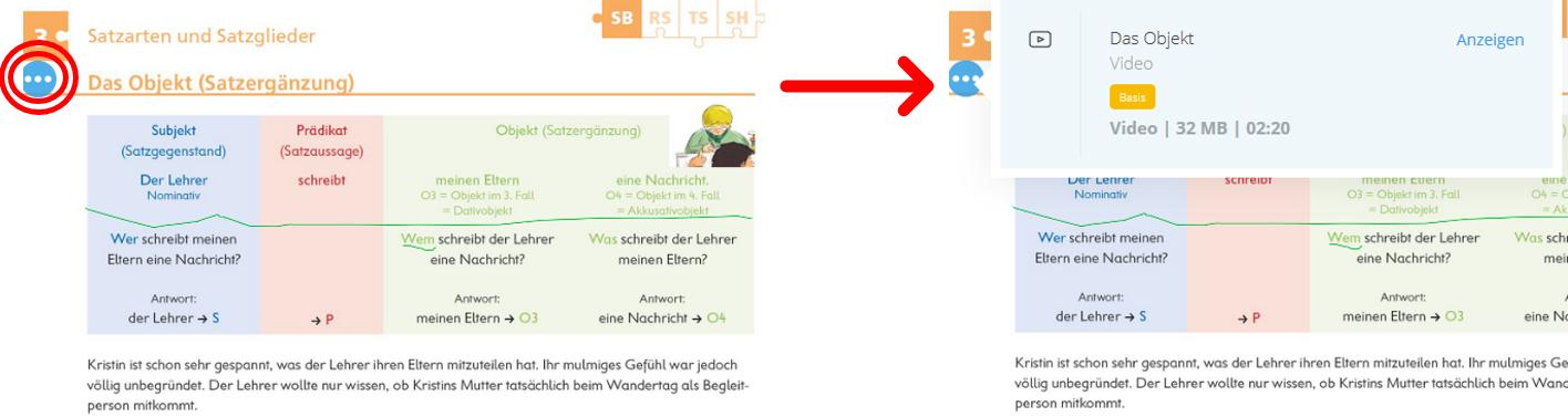 Material-Hotspot in Deutschstunde 1. Basis