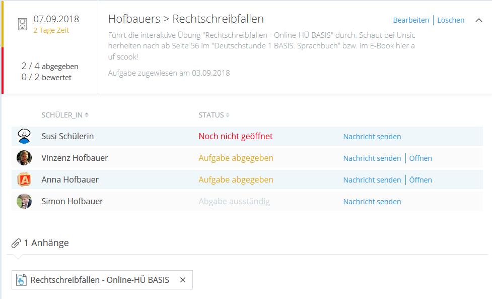 Kachel Online-HÜ Rechtschreibfallen
