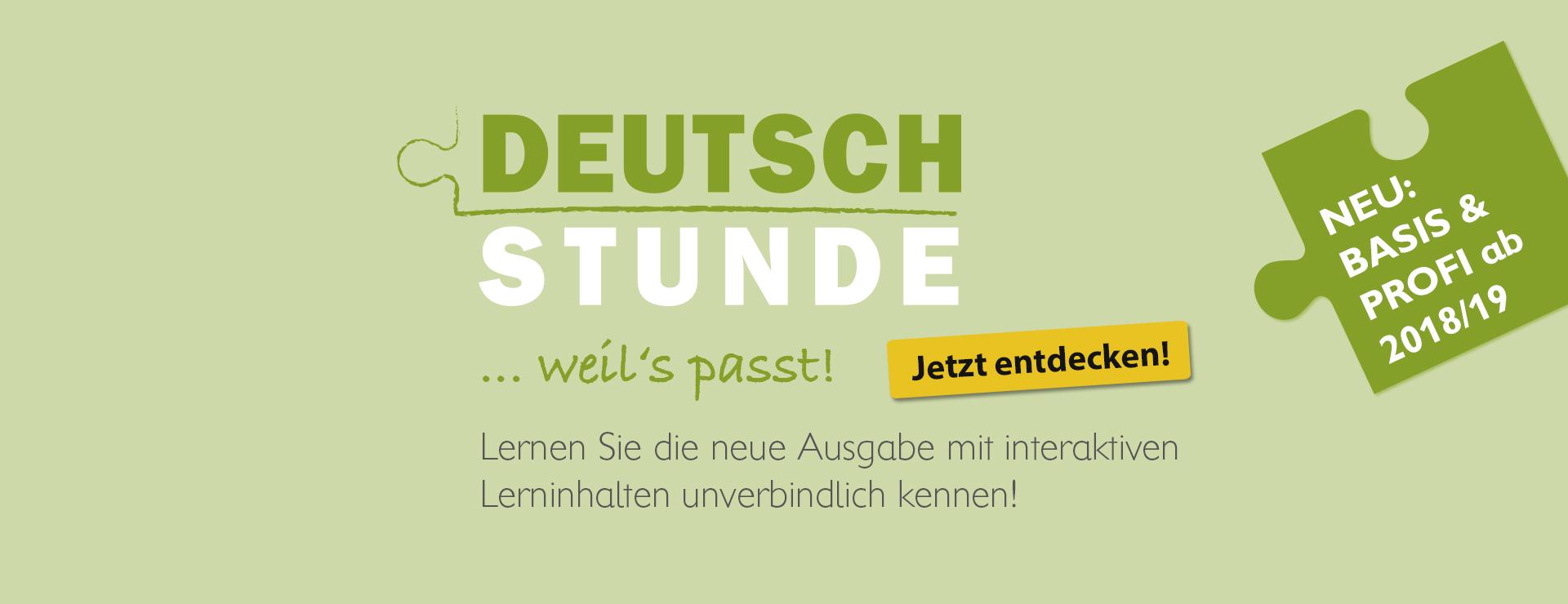 Deutschstunde neu Basis und Profi ab 2018/19