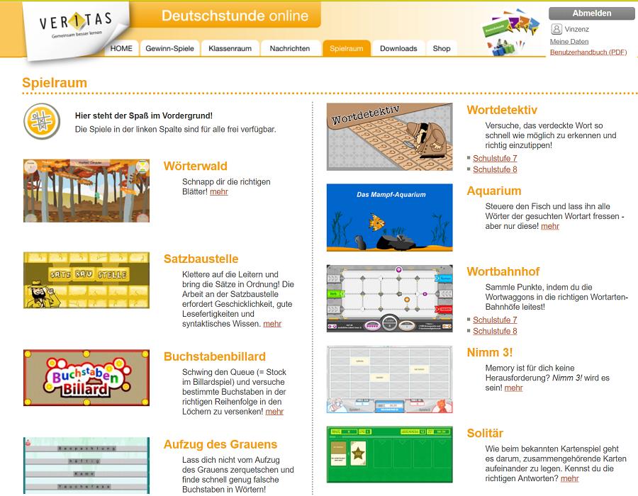 Spielraum auf Deutschstunde online