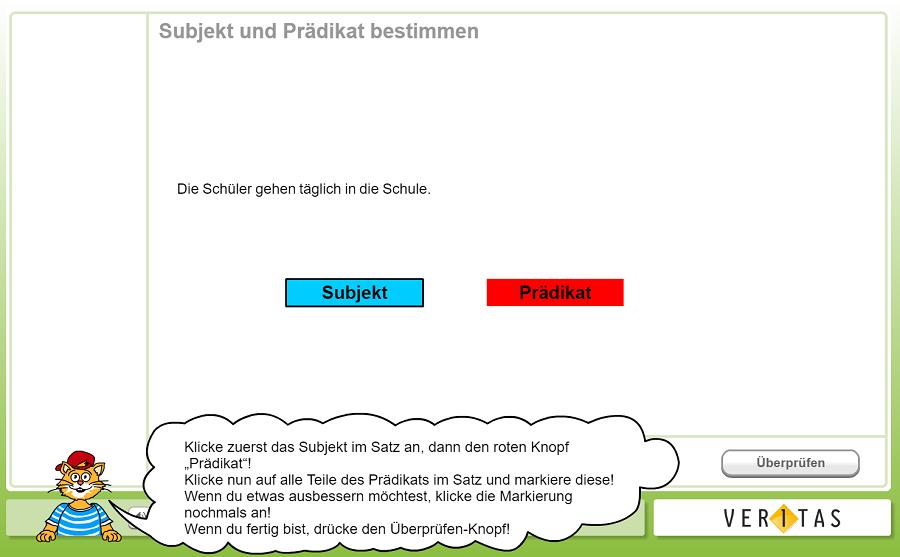 Interaktive Übung auf Deutschstunde online